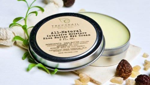 A handmade under eye cream made by a diy skin care business