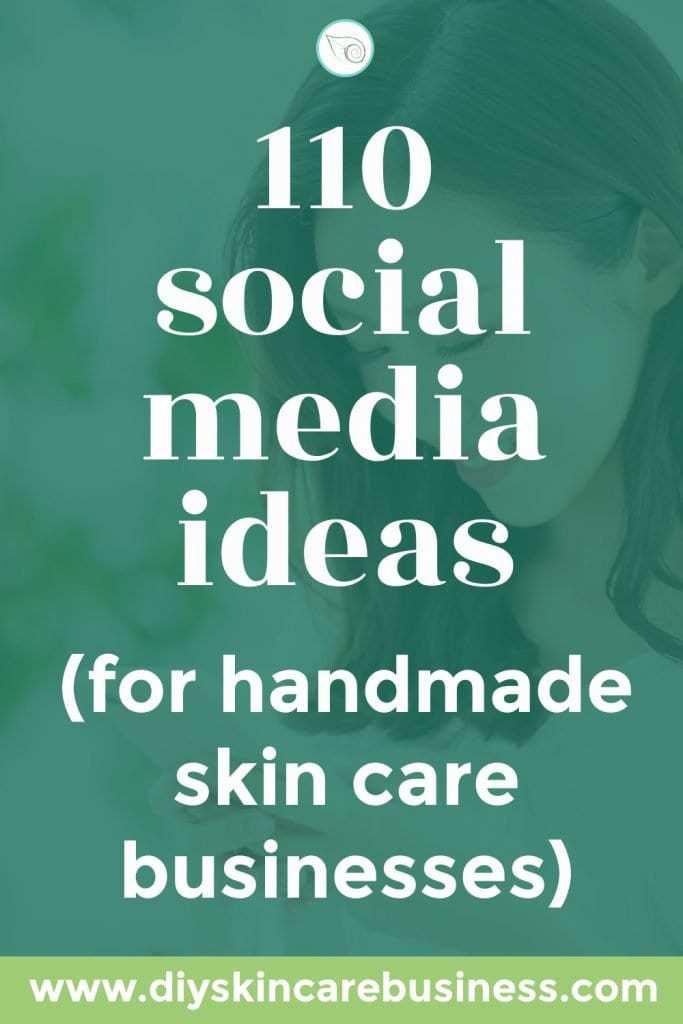 Social Media Ideas for Skin Care