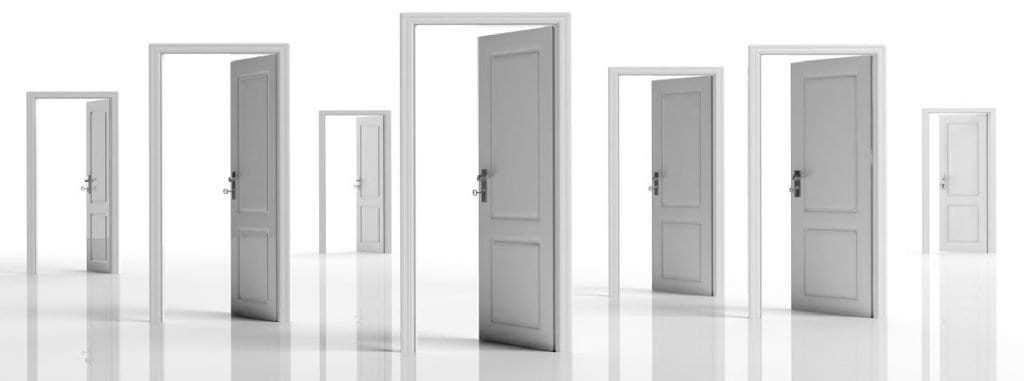 White doors.