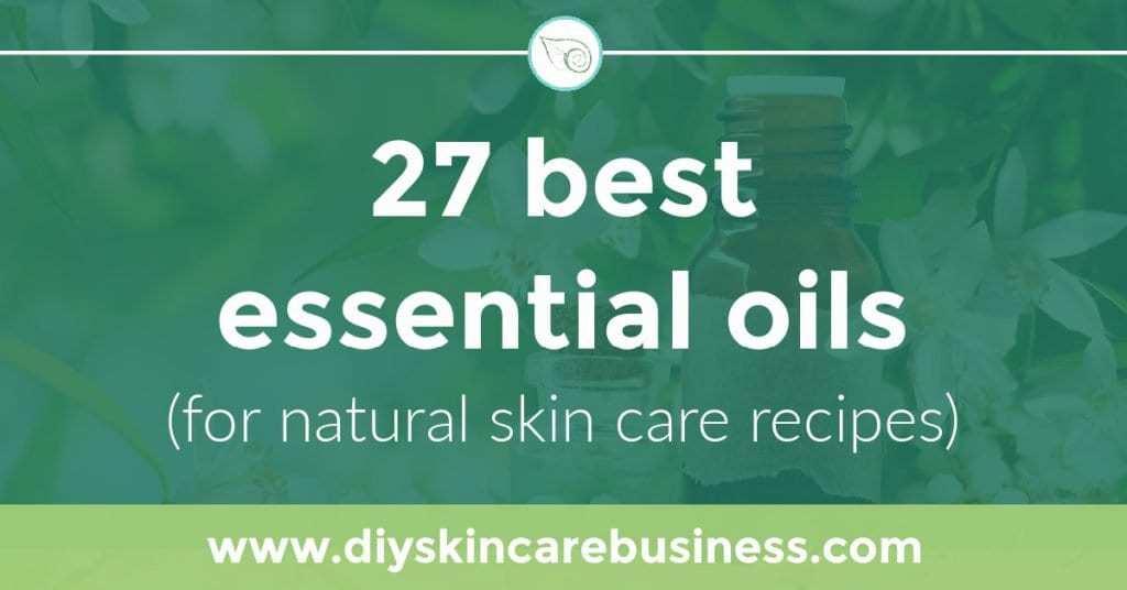 Best essential oils for natural skin care recipes social media image