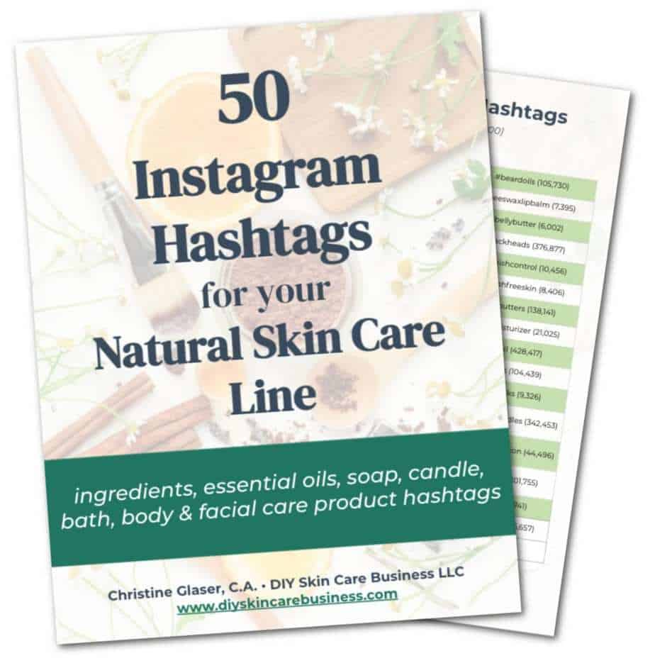 Researched Skin Care Instagram Hashtags Freebie