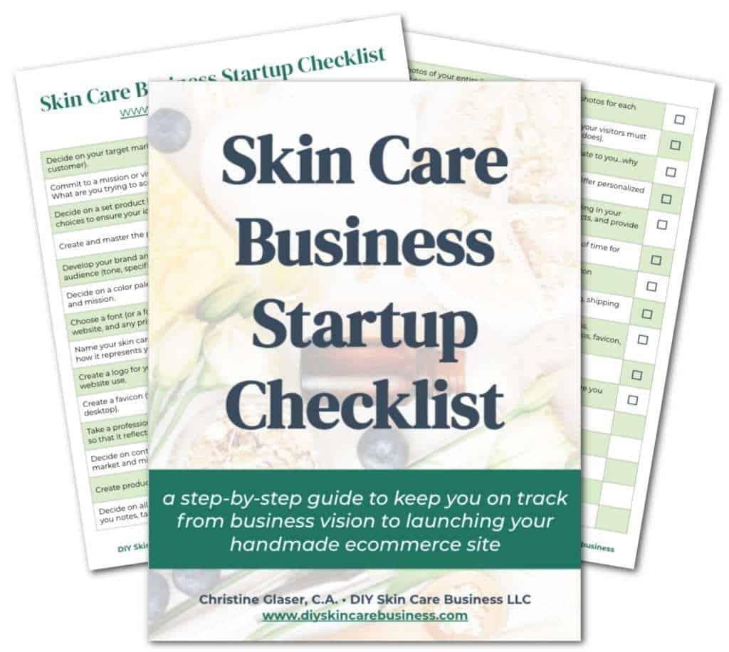 DIY Skin Care Business Startup Checklist