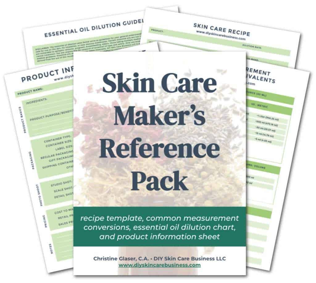 Skin Care makers Reference Pack Freebie