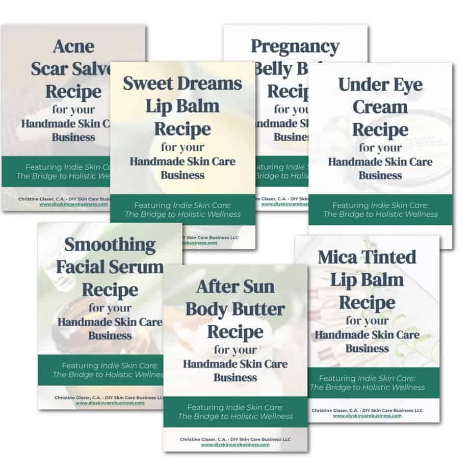 Natural skin care recipe PDFs to make and sell online