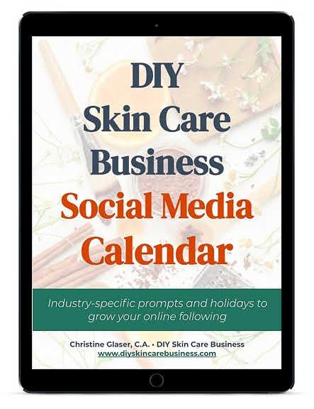 DIY Skin Care Business Social media Calendar on Tablet